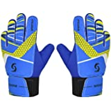 Sportout Kids Junior Goalkeeper Gloves, Boys and Girls Training Gloves with Double Wrist Protection and Non-slip Wear Resista