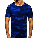 BOLF Hombre Camiseta de Manga Corta Escote Redondo Estampada Crew Neck Entrenamiento Deporte Camiseta de Algodón Estilo Diari