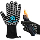 MLMLANT Barbecue Gloves Extreme Heat Resistant, BBQ Tools Cooking Grilling Oven mitts Fingers High up to 800 ℃ / 1472 ℉, Heat