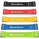 Newdora Bandas de resistencia, 5 juegos de bandas de resistencia para ejercicio, súper suaves, agradables a la piel, de látex