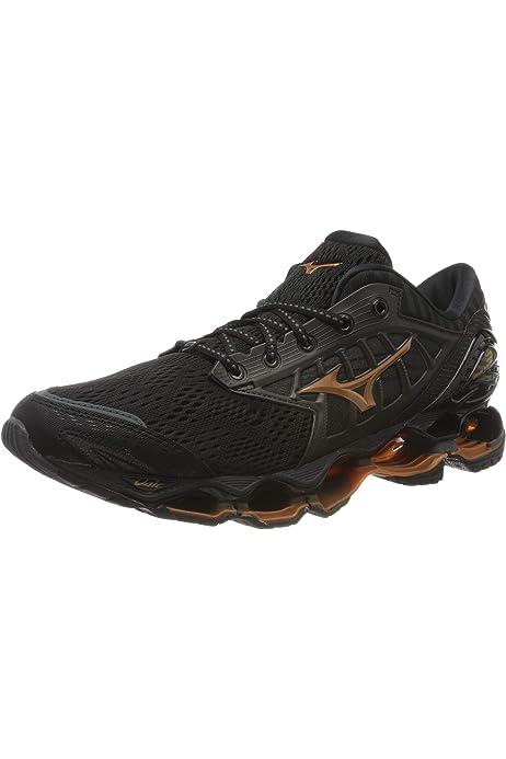 Mizuno Wave Prophecy 8 Zapatillas de Running, Hombre, Negro (Dark Shadow/Silver/Safety Yellow 05), 46 EU: Amazon.es: Ropa y accesorios
