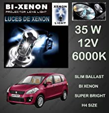 Volga Bi-Xenon HID Kit H4 Size Hi-Low Beam 35W 6000K Dimond White For Maruti Suzuki Ertiga