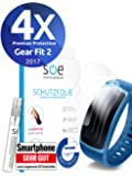 [4 Stück] Schutzfolien kompatibel mit Samsung Gear Fit 2 - [Made in Germany - TÜV NORD] - Premium Schutz - volle…