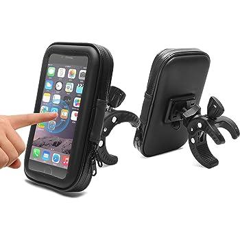 AEMIAO Supporto Bici Smartphone, Porta Cellulare Bici,Supporto Manubrio Universale Moto, Porta Telefono Bici Impermeabile per Bicicletta MTB, per iPhone X Samsung S9 GPS dispositivi da 5,3-6,2 pollici