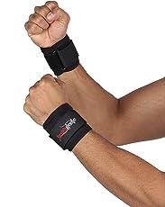 Healthgenie One Size Adjustable Wrist Support - 1 Pair (Black)