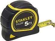 Stanley 0-30-697 Bandmaat Tylon met 5 m, Tylon-polymeer beschermlaag, verschuifbare eindhaak, kunststof behuizing