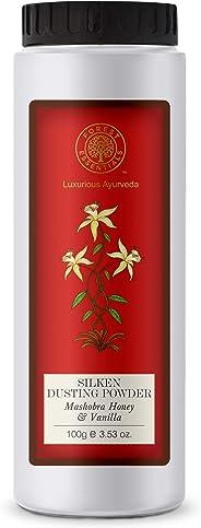 Forest Essentials Silken Dusting Powder, Mashobra Honey and Vanilla, 100g