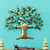 Vedas Exports Multicolour Iron Alila Tree Wall Decorative Hanging & Mounted Art Sculpture Living Room Décor (Size 28 x 28 inc