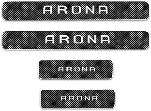 For ARONA 4D M Paket Carbon Fiber Schweller Schutz Aufkleber Einstiegsleisten Abnutzungs Pedal Schützen Auto Styling schwelle Abdeckung 4 Stück Weiß
