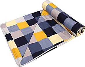 Click Collection Poly Cotton Double Bed AC Quilt/Dohar/Blanket(Multicolour)
