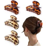 Detontek 4pcs Clips de Pelo de Garra de Plástico, Garras de Pelo Grandes Antideslizantes para Mujeres Niñas Hebillas de Pelo