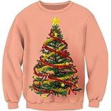 Sliktaa Christmas Funny 3D-Printed Ugly Jumpers Sweatshirt Mens Womens Unisex Funny Ugly Santa Sweatshirt Xmas Grahic Pullove