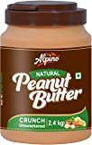 Alpino Natural Peanut Butter Crunch 2.4 KG | Unsweetened | Made with 100% Roasted Peanuts | No Added Sugar | No Added…