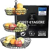 Chefarone grande corbeille a fruits 3 etages - Panier a fruits a etages en métal décoration plan de travail - Coupe de fruit