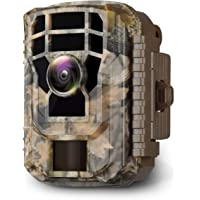 Campark Mini caméra de faune 16 MP 1 080p HD - étanche, avec objectif grand angle de 120° et vision nocturne à LED IR…