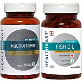 HealthKart Omega ( Fish Oil + Multivitamin for Men & Women , 60 capsules each)