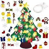 El árbol de Navidad del Fieltro de los 3.3FT DIY fijó + los Ornamentos Desmontables 30pcs, Regalos Colgantes de Navidad de la