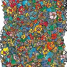 d-c-fix 200-3006 - Lámina adhesiva para ventana (vinilo, 45 cm x 1 m), vidriera efecto de jardín veneciano