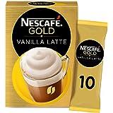 خليط القهوة نسكافيه جولد كابتشينو فانيلا لاتيه، 18.5 غرام- 10 اكياس (عبوة واحدة)