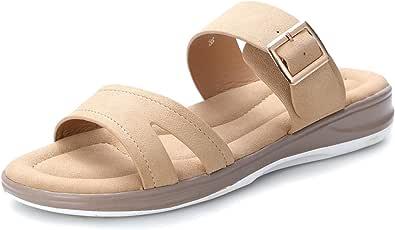 Scarpe Donna Eleganti Sandali Piatti Infradito Donna Scarpe Comode Pantofole Estivi da Spiaggia 2020 Tacco Bassi Sandali Casual