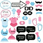 SYGA Baby Shower Party Photo Booth Props (Set of 30), Multicolour