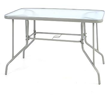 Amazon De Aluminium Gartentisch Glasplatte Alu Glas Tisch Schwarz