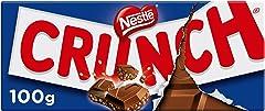 Nestlé Crunch Chocolate con Leche con Cereales Tostados, 100g