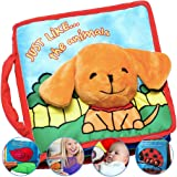 SNOWIE SOFT® Premium Baby Book for 1 Year Olds, Cloth Book Baby Present, Fun Interactive Soft Book for Babies from Birth…