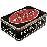 Nostalgic-Art Caja Plana de Metal Retro Moto Guzzi – Logo Motorcycles – Idea de Regalo para Amantes as Motos, Lata con Tapa,