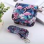 CHENN Flamingo Pattern Full Body Camera PU Leather Case Bag with Strap for FUJIFILM instax mini 9 / mini 8+ / mini 8