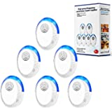 Ultrasonic Pest Repeller, 6 Packs, 2020 Upgraded, Electronic Indoor Pest Repellent Plug in for Insects, Mice,Ant, Mosquito, S