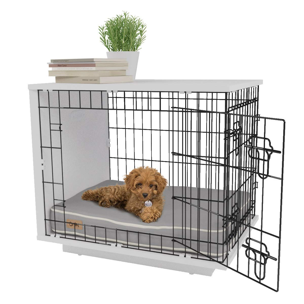 Omlet Fido Studio 24″ Dog Crate/Dog Bed – White