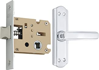 Spider Steel Baby Latch Keyless Lock Complete Set with Chrome Plated Finish (S606BCP + KBL) (Bathroom & Bedroom Latch)