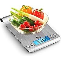 himaly 5kg/1g Balance Cuisine Balances de Cuisine/pâtisserie Electronique Numérique Haute Précision en Acier Inoxydable…