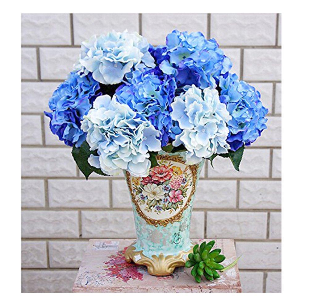 Flores artificiales, de Amkun, ramo de flores de hortensia, decoración de hogar, fiestas o bodas