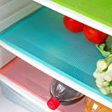 5 Pcs Refrigerator Mats,EVA Refrigerator Liners Washable Can Be Cut Refrigerator Pads Fridge Mats Drawer Table Placemats,Size