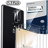 QITAYO Protection Ecran + Caméra Arrière Protecteur pour Oneplus 8, Oneplus 8 Verre Rrempé pour Oneplus 8 Caméra [2+3 Pièces]