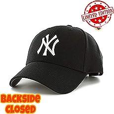 MoohMaya Aaj Jio Premium Flexifit NY Solid Closed Back Stretchable Caps for Men & Women(Black)