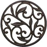 Trébedes decorativa del arrabiopara lacocina o la mesa de comedor   Redondo con patrón Vintage-Con clavijas/pies de goma - Me