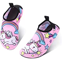 SOSPIRO Unicorno Scarpe da Mare Bambina Ragazze Ragazzi Scarpe da Acqua Antiscivolo ad Asciugatura Rapida Scarpe a Piedi…