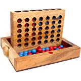 Logica Spiele Art. Vier GEWINNT - Spiel aus Holz - wiederverschließbare Version - für Reisende