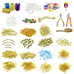 Unobite 29 Piece Silk Thread Jewellery Making Kit for Making Earing and Neclace with All Accessories