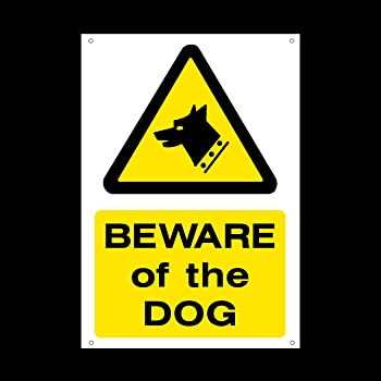 beware of the dog plastic sign with 4 pre drilled holes foulingdog areaclean it upsecurity guard dogs misc60