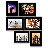 E Deals Customized Photo Frame Set of 6 Collage Synthetic Framed with Acrylic Glass - self Installation Photo Frame (5 InchX