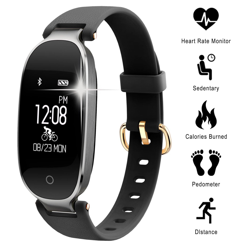 WOWGO Pulsera Actividad, Smartwatch Impermeable IP67, Reloj Inteligente con Pulsómetro, Reloj de Fitness con Podómetro… 1