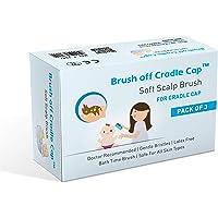 Brush off Cradle Cap Soft Scalp Brush for Baby Cradle Cap (White) - Pack of 3