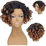 Hrph Mode Sexy Cheveux Courts Boucles 35cm Cosplay Femme Perruque De