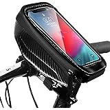 Snowpea Fietsframetas, waterdicht, fietstas, stuurtas, bovenbuistas, fiets, telefoonhouder met koptelefoongat voor smartphone