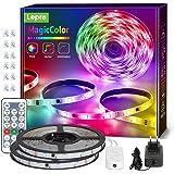 Lepro 10M Tira LED RGB Música, Tira Luz MagicColor, Tira luz música con control remoto, Tira LED Dreamcolor Impermeable IP65,