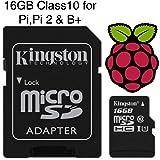 carte Micro SD préchargé avec NOOBS or Raspbian pour Raspberry Pi Modèle Zéro, B+ & Pi 2, Classe 10 - 16GB-Raspbian